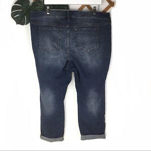 torrid Jeans - Torrid Distressed Boyfriend Blue Jeans Size 22 New